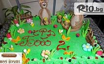 Бутикова торта с ръчно изработени захарни фигурки - 8, 16 или 20 парчета от 12.90лв, от Сладкарница Сладки Мечти