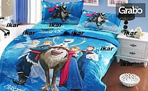 Детски спален комплект 100% памук, в десен с любими анимационни герои