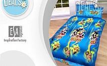 """Единичен комплект """"Наруто"""", спално бельо, 100% памук, ЕСА Корпорация"""