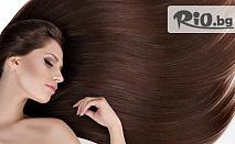 Интензивна терапия за БЛЯСЪК на косата с олио и спрей за блясък и здравина + подстригване по желание - за 9.90лв, от Студио за красота Алая