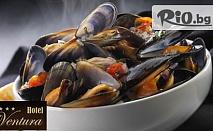 Лукс и вкусна храна край морето! Бутиков ресторант Вентура с ново 3-степенно меню за ценители само за 7.60лв