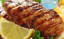 Пълнена свинска плешка с плънка и картофи за 10 човека + доставка от Горна Баня Бене
