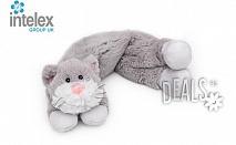 Плюшен нагряващ се Шал Котка Cozy Wrap Cat от Intelex