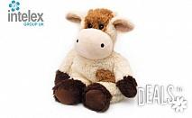 Плюшена нагряваща се Крава Cozy Plush Cow от Intelex