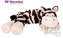 Плюшенo нагряващo се и охлаждащo се вързопче зебра от Warmies
