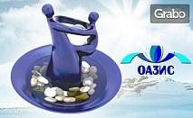 Пренеси природата в дома или офиса! Стилен декоративен фонтан с кристална топка и речни камъчета