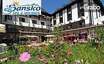 През лятото в Банско! 1 нощувка със закуска, обяд и вечеря, плюс ползване на SPA и фитнес