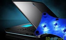 USB охладител за лаптоп с 3 вентилатора