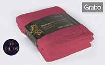 Уют у дома! Двустранна покривка за легло - одеяло, в цвят Сангрия